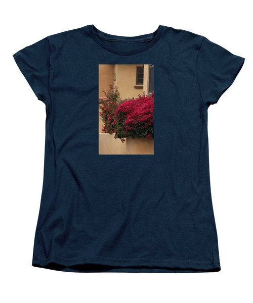 Beautiful Balcony With Bougainvillea Women's T-Shirt (Standard Cut) by Ivete Basso Photography