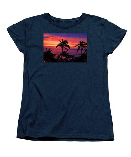 Beautiful Hawaiian Sunset Women's T-Shirt (Standard Cut) by Michael Rucker