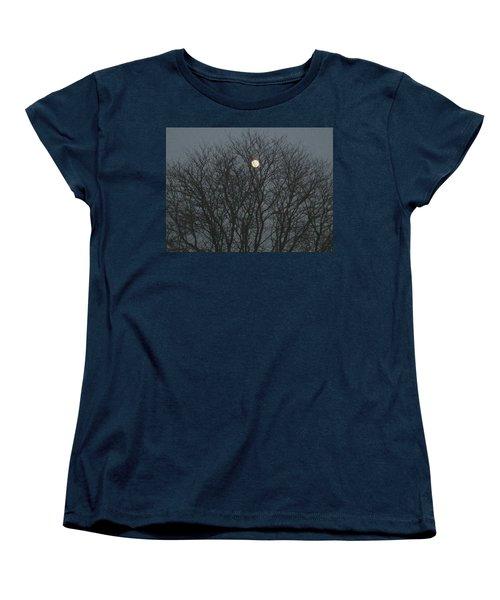 Beautiful Moon Women's T-Shirt (Standard Cut) by Sonali Gangane