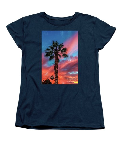 Women's T-Shirt (Standard Cut) featuring the photograph Beautiful Palm Tree by Robert Bales