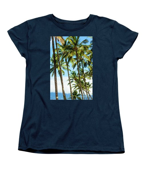 Women's T-Shirt (Standard Cut) featuring the photograph Beautiful Palms Of Maui 16 by Micah May