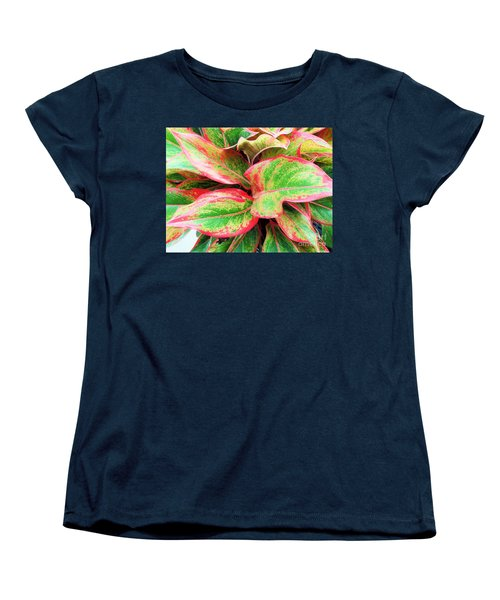 Women's T-Shirt (Standard Cut) featuring the photograph Beautiful Red Aglaonema by Ray Shrewsberry