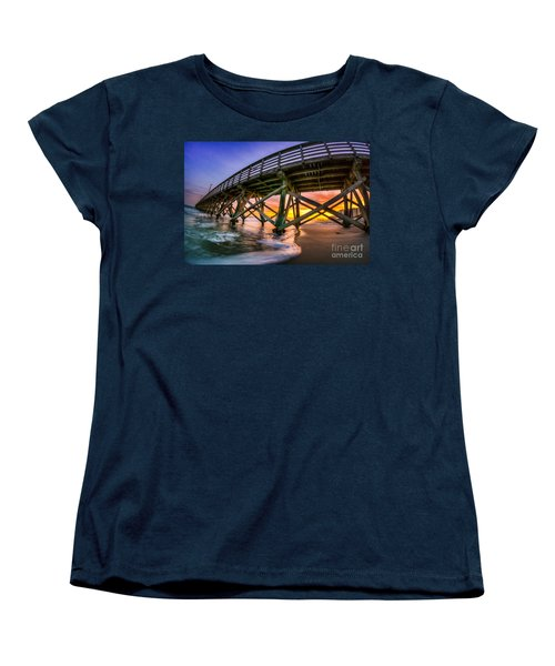 Beautiful Sunset In Myrtle Beach Women's T-Shirt (Standard Cut) by David Smith