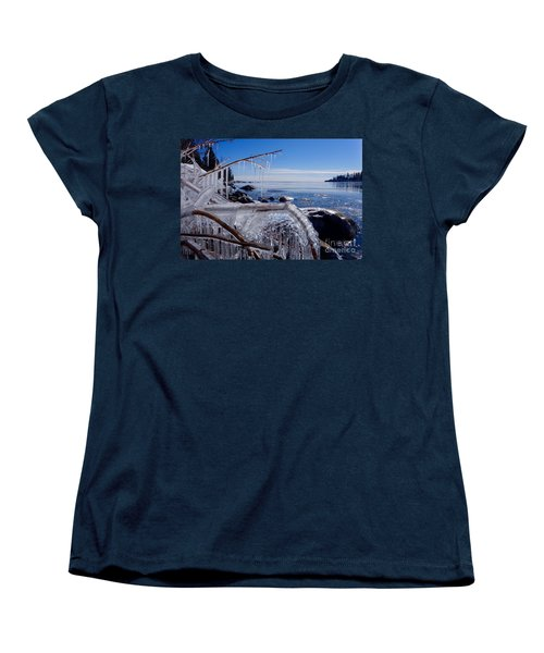 Beautiful Winter Day Women's T-Shirt (Standard Cut) by Sandra Updyke
