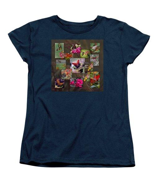 Beauty In Butterflies Women's T-Shirt (Standard Cut) by DigiArt Diaries by Vicky B Fuller