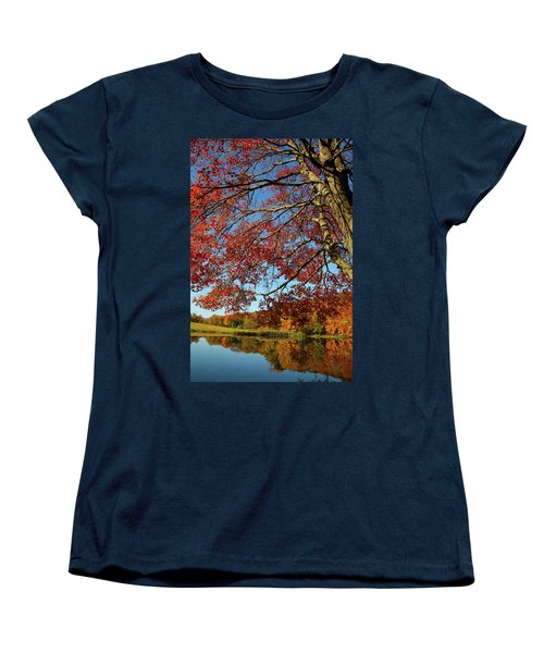 Women's T-Shirt (Standard Cut) featuring the photograph Beauty Of Fall by Karol Livote