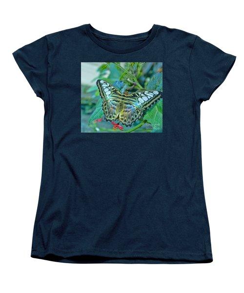 Beauty On Wings Women's T-Shirt (Standard Cut) by Steven Parker