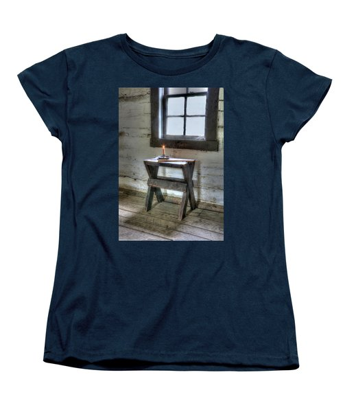Women's T-Shirt (Standard Cut) featuring the digital art Bedford Village 2 by Sharon Batdorf