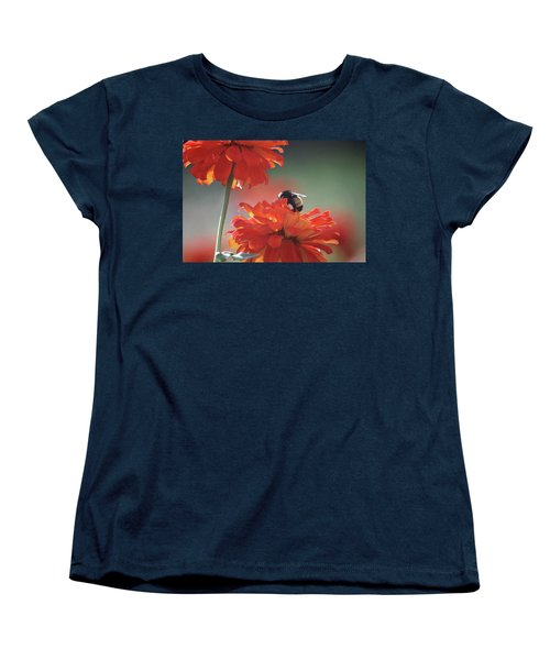 Bee And Flower I Women's T-Shirt (Standard Cut) by Donna G Smith