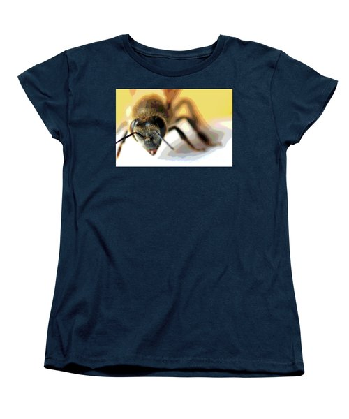 Women's T-Shirt (Standard Cut) featuring the photograph Bee In Macro 5 by Micah May