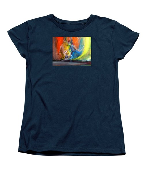 Women's T-Shirt (Standard Cut) featuring the painting Before The Duel by Kicking Bear  Productions