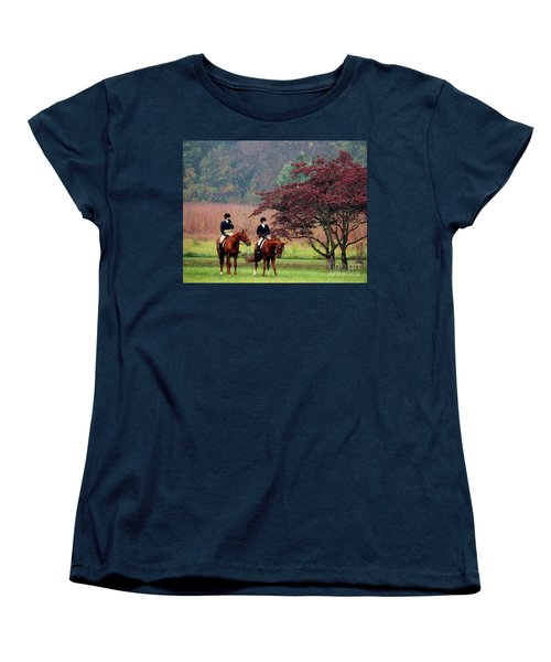 Women's T-Shirt (Standard Cut) featuring the photograph Before The Hunt by Polly Peacock