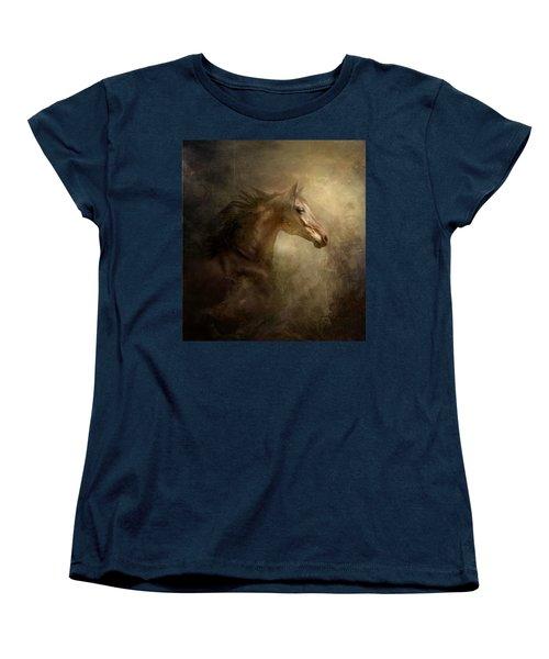 Behind Broken Mirror Women's T-Shirt (Standard Cut) by Dorota Kudyba