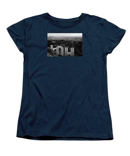 Behind Hollywood Bw Women's T-Shirt (Standard Cut)
