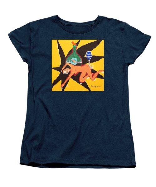 Behind The Curtain Women's T-Shirt (Standard Cut) by Jose Rojas