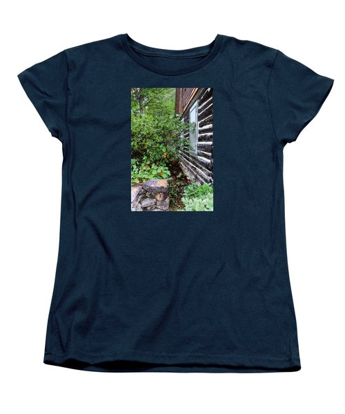 Women's T-Shirt (Standard Cut) featuring the digital art Behind The Dorm At The Clearing by David Blank