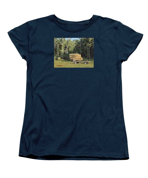 Behind The Grove Women's T-Shirt (Standard Cut) by Bruce Morrison