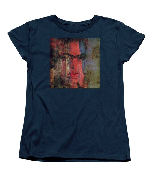 Women's T-Shirt (Standard Cut) featuring the painting Behind The Painted Smile by Paul Lovering