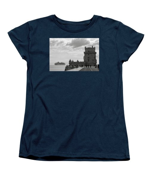 Belem And The Boat Women's T-Shirt (Standard Cut) by Lorraine Devon Wilke