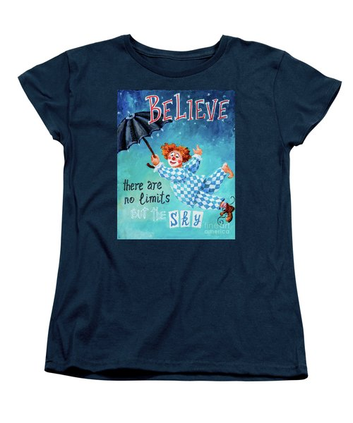 Women's T-Shirt (Standard Cut) featuring the painting Believe by Igor Postash