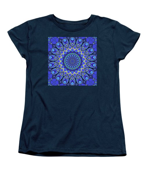 Women's T-Shirt (Standard Cut) featuring the digital art Bella - Blue by Wendy J St Christopher