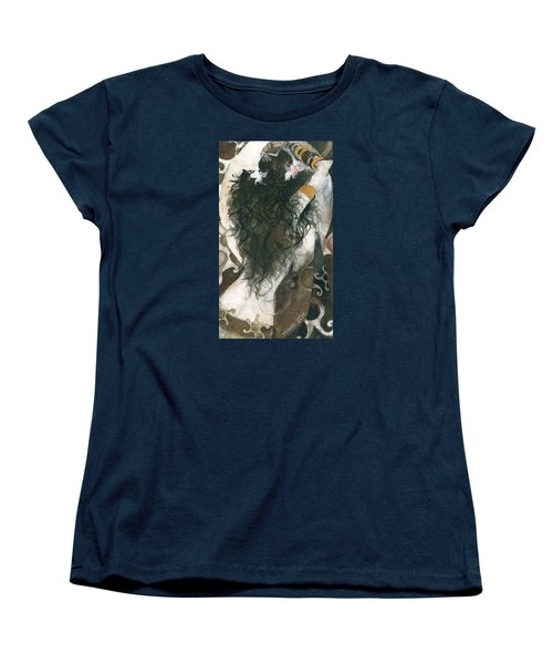 Women's T-Shirt (Standard Cut) featuring the painting Belly Dancer And The Mirror by Maya Manolova
