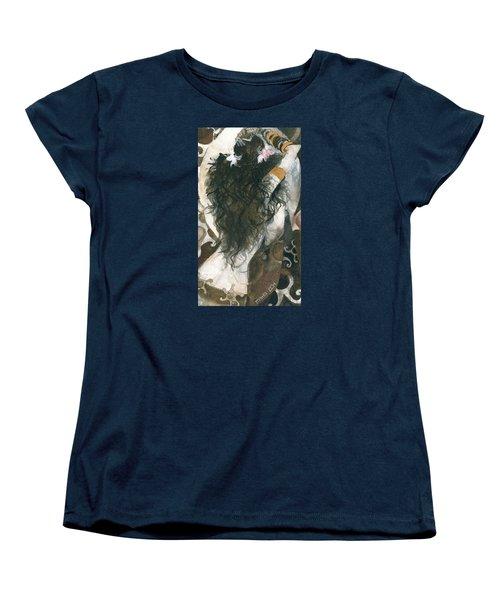 Belly Dancer And The Mirror Women's T-Shirt (Standard Cut) by Maya Manolova