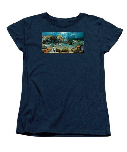 Beneath The Sea Women's T-Shirt (Standard Cut) by Ruanna Sion Shadd a'Dann'l Yoder