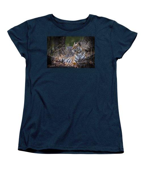 Bengal Tiger Women's T-Shirt (Standard Cut) by Hitendra SINKAR