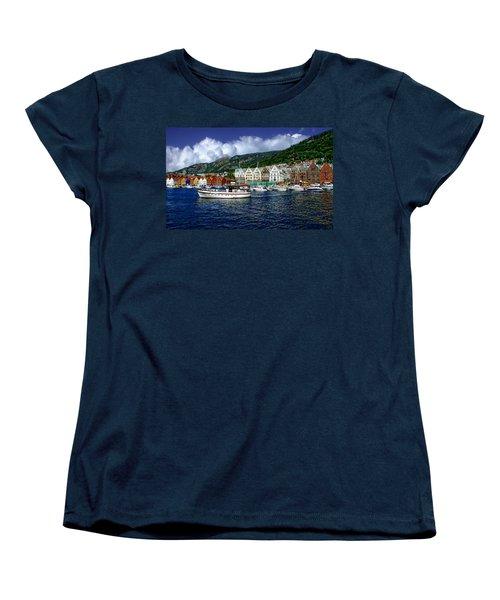 Bergen - Norway Women's T-Shirt (Standard Cut) by Anthony Dezenzio