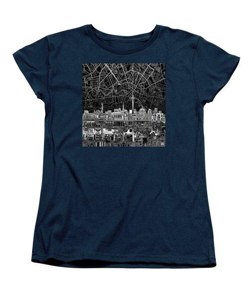Berlin City Skyline Abstract 4 Women's T-Shirt (Standard Cut) by Bekim Art