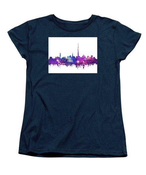 Berlin City Skyline Galaxy Women's T-Shirt (Standard Cut) by Bekim Art