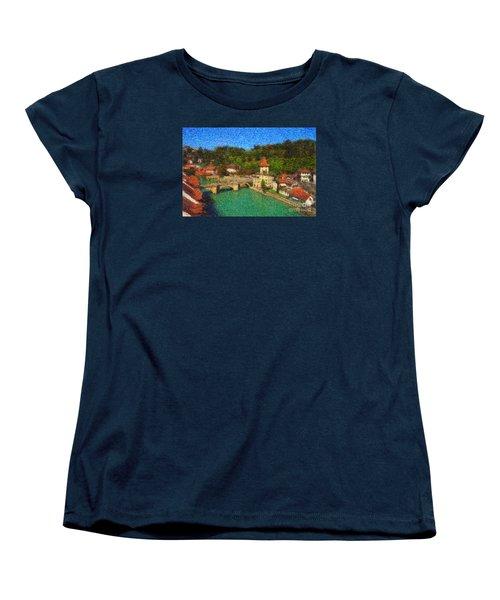 Bern On River Aare Women's T-Shirt (Standard Cut) by Gerhardt Isringhaus