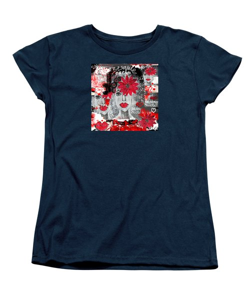 Women's T-Shirt (Standard Cut) featuring the painting Besame Mucho by Sladjana Lazarevic