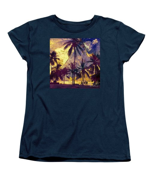 Women's T-Shirt (Standard Cut) featuring the photograph Beside The Sea by LemonArt Photography