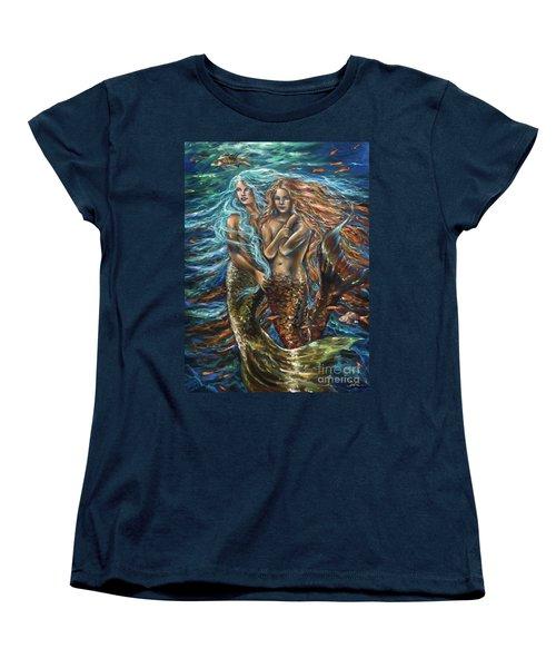 Best Friends Women's T-Shirt (Standard Cut) by Linda Olsen
