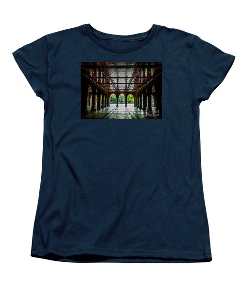 Bethesda Terrace Arcade 2 Women's T-Shirt (Standard Cut) by James Aiken