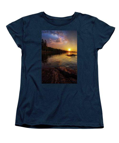 Between Heaven And Earth Women's T-Shirt (Standard Cut) by Rose-Marie Karlsen