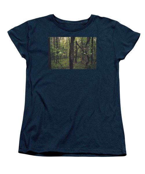 Women's T-Shirt (Standard Cut) featuring the photograph Between The Dogwoods by Shane Holsclaw