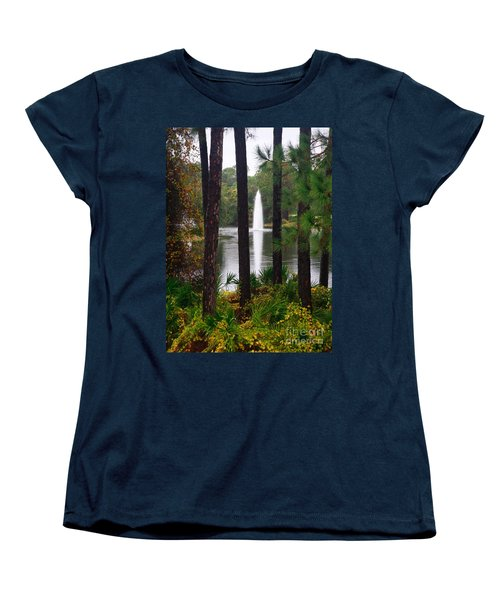Between The Fountain Women's T-Shirt (Standard Cut) by Lori Mellen-Pagliaro