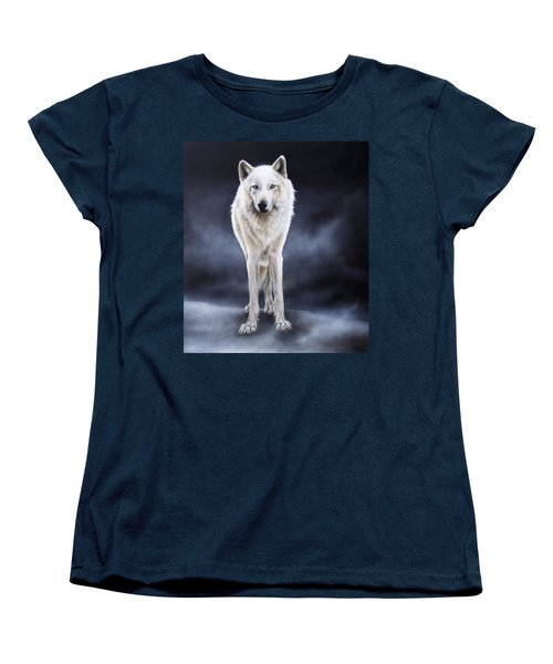 'between The White And The Black' Women's T-Shirt (Standard Cut) by Sandi Baker