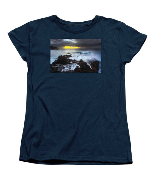 Women's T-Shirt (Standard Cut) featuring the photograph Between Two Storms by Ryan Manuel