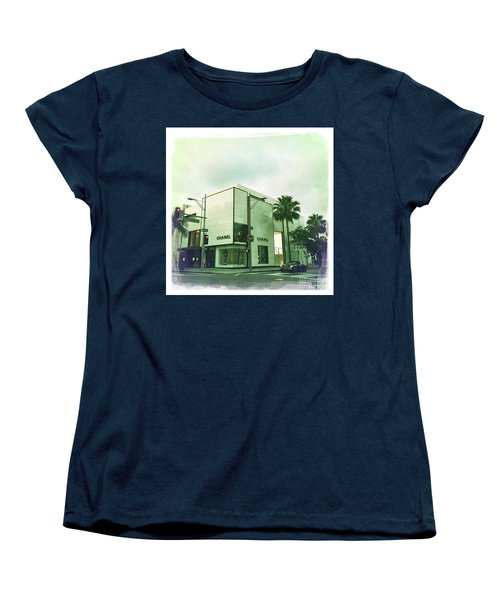 Beverly Hills Rodeo Drive 13 Women's T-Shirt (Standard Cut) by Nina Prommer