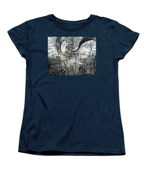 Women's T-Shirt (Standard Cut) featuring the digital art Beware Of Darkness by Rhonda Strickland