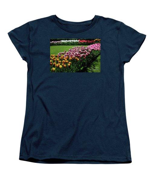 Multicolor Tulips Women's T-Shirt (Standard Cut) by Ana Mireles
