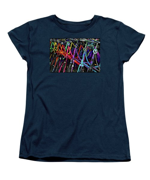 Bicycles In Amsterdam Women's T-Shirt (Standard Cut) by DC Langer