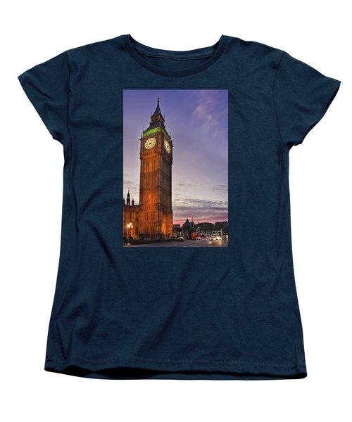 Women's T-Shirt (Standard Cut) featuring the photograph Big Ben Twilight In London by Terri Waters