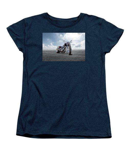 Women's T-Shirt (Standard Cut) featuring the photograph Big Dog Pitbull by Peter Chilelli