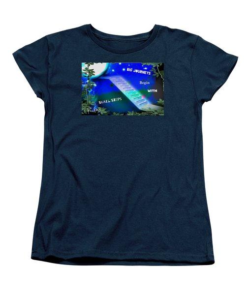 Big Journeys......small Steps Women's T-Shirt (Standard Cut) by Diana Riukas
