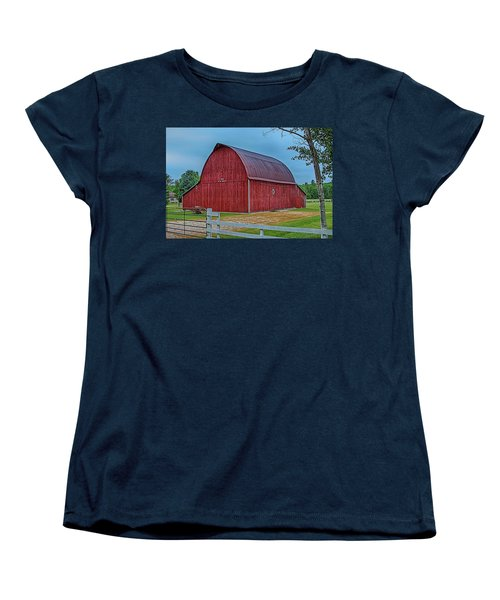 Women's T-Shirt (Standard Cut) featuring the photograph Big Red Barn At Cross Village by Bill Gallagher